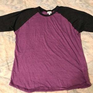 NEW LuLaRoe Randy Purple Black Baseball Shirt 2XL